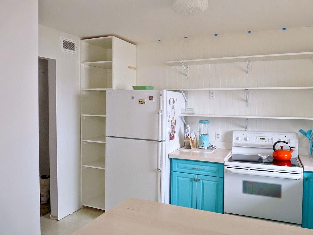 Kitchen Progress: DIY Pantry Cabinet + Working Around The