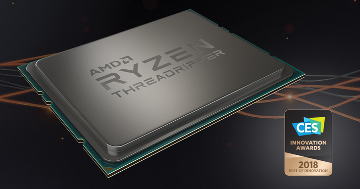 AMD Ryzen™ Threadripper™ 1950X Memenangkan Penghargaan Best Innovation Award pada CES 2018
