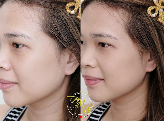 a photo of Kate Tokyo The Base Zero Secret Skin Maker Zero Powder Foundation_askmewhats_Before and After