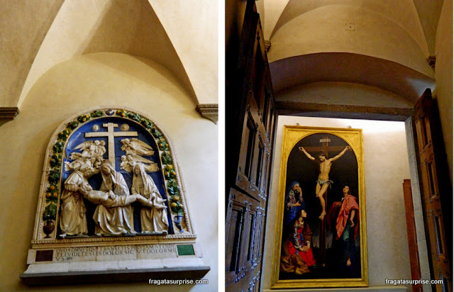 Obras de arte no Museu de San Marco, em Florença