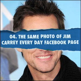 My 5 Favourite Things On The Internet: 04. The Same Photo of Jim Carrey Every Day Facebook Page