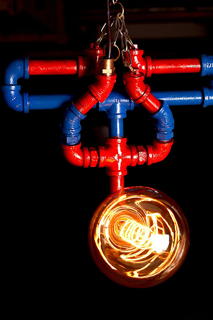 Spiderman Industrial Desk Lamp Or Bedside Lamp Awesome Spiderman Water Piping Lamp Hanging