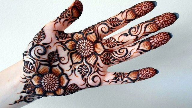 Simple Arabic Mehndi Designs For Front Hands