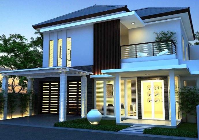 Desain Rumah Type 45 2 Lantai Minimalis