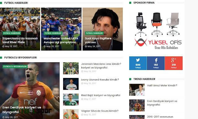 Blogger  haberleri teması