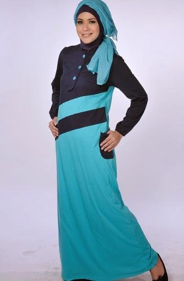 Baju muslim remaja kombinasi sederhana