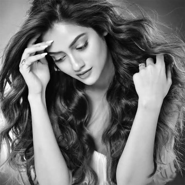 Nusrat Jahan Black and White Photo