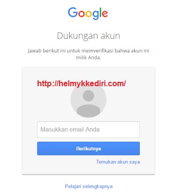 mengembalikan akun google yang dihack