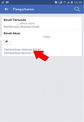 Tambah Alamat Email Facebook
