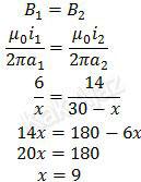 Induksi magnet kawat I sama dengan induksi magnet kawsat II