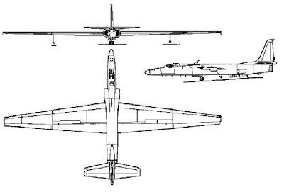 Lockheed U-2 şema çizimi.