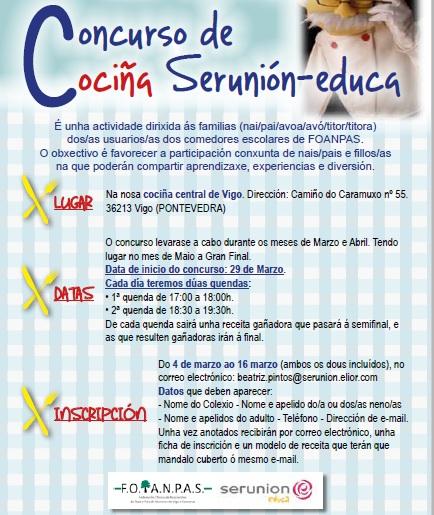 Blog Anpa o Muiño: III EDICIÓN CONCURSO DE COCINA SERUNION-EDUCA