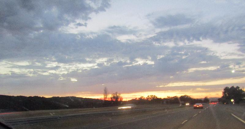 North Up the Cuesta Grade at Sundown: Photos