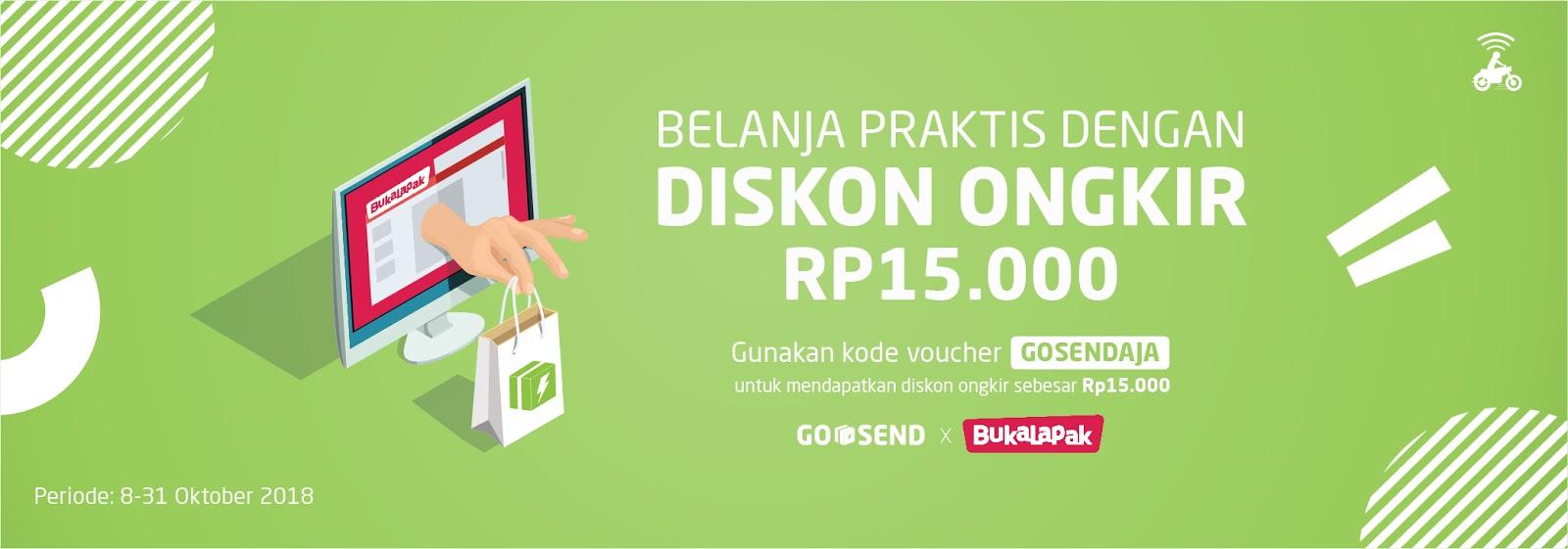 GOJEK - Promo Gratis Ongkir s.d 15 Ribu Sampai Dihari Yang Sama (s.d 31 Okt 2018)