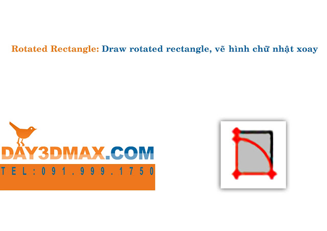 Học 3d sketchup 7 lệnh rotated rectangle learning sketchup  3d  how to use rotated rectangle tool