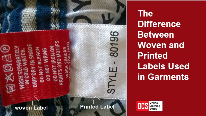 what is the difference between woven and printed labels used in