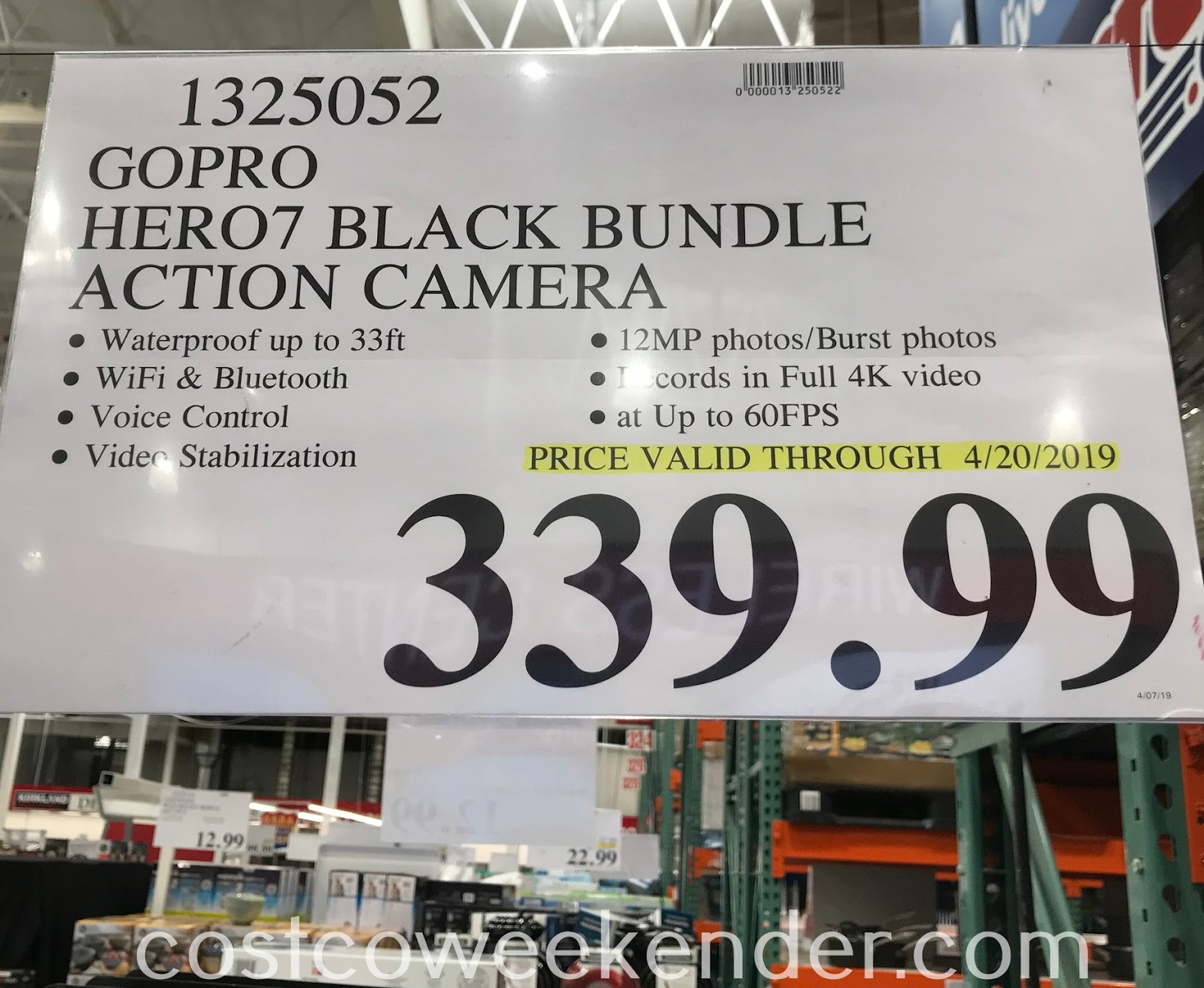 Deal for the GoPro Hero7 Black Camera Bundle at Costco