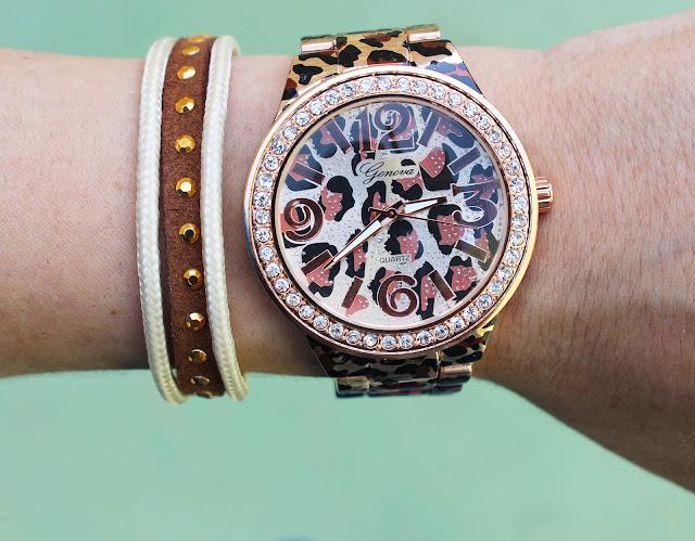 orologio leopardato