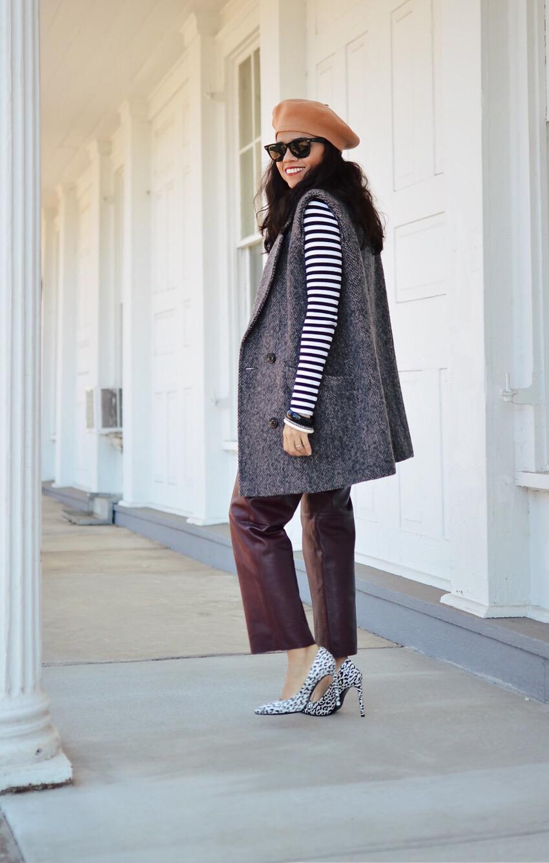 Oversized waistcoat street style