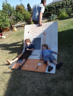 cardboard box raft