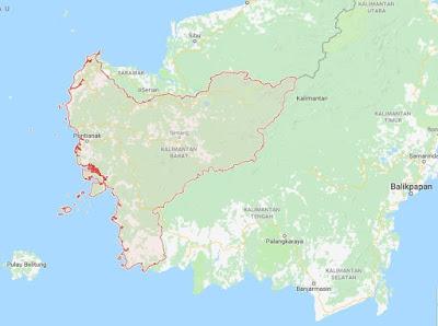 Peta Provinsi Kalimantan Barat (KALBAR), Jumlah dan Daftar Nama Daerah Kota / Kabupaten di Provinsi Kalimantan Barat (KALBAR)