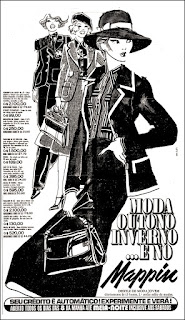 propaganda Mappin 1977; moda outono inverno anos 70; moda anos 70; propaganda anos 70; história da década de 70; reclames anos 70; brazil in the 70s; Oswaldo Hernandez