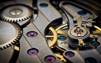 Wallpaper: Mechanical Gears Movement Watch Time