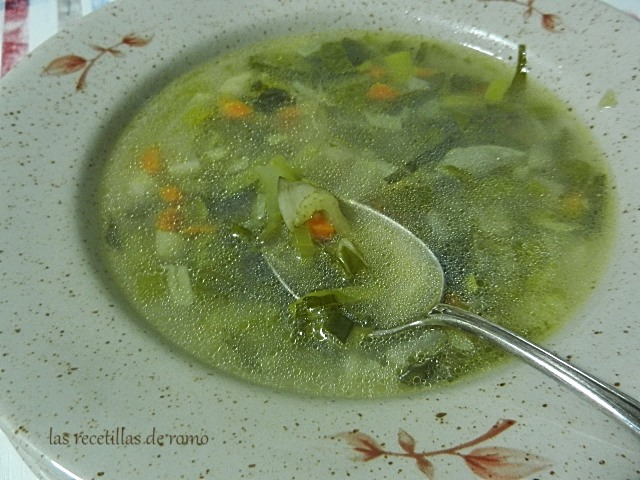 Sopa rápida de verduras