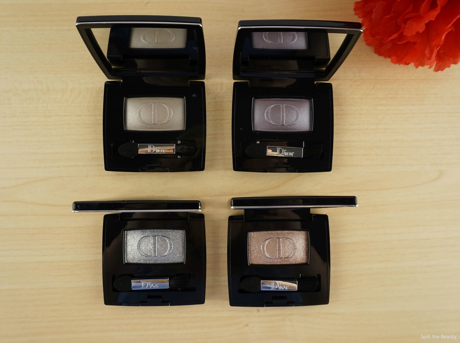 Diorshow Mono Eyeshadow 'Minimalism', 'Atmosphere', 'Techno', 'Cosmopolite' – Review and Swatches