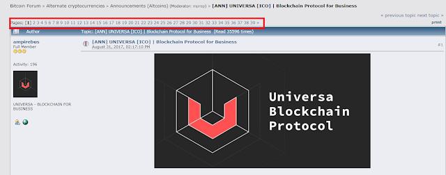 Đầu tư ICO Universa Blockchain Platform