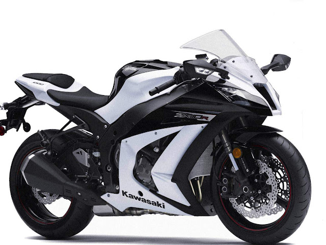 Kawasaki ZX-10 white and black color limited edition