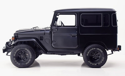 Black Toyota FJ40 Side Left