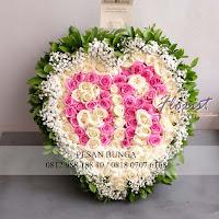 hand bouquet love, hand bouquet initial, jual bunga jakarta,