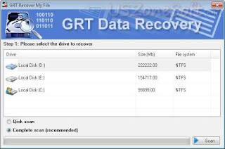GRT Recover My File screen 1