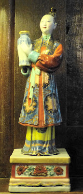 A Chinese Quianlong figure c1780 in the Dining Room, A la Ronde
