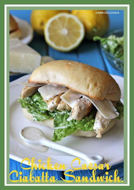 Chicken Caesar Ciabatta Sandwich.