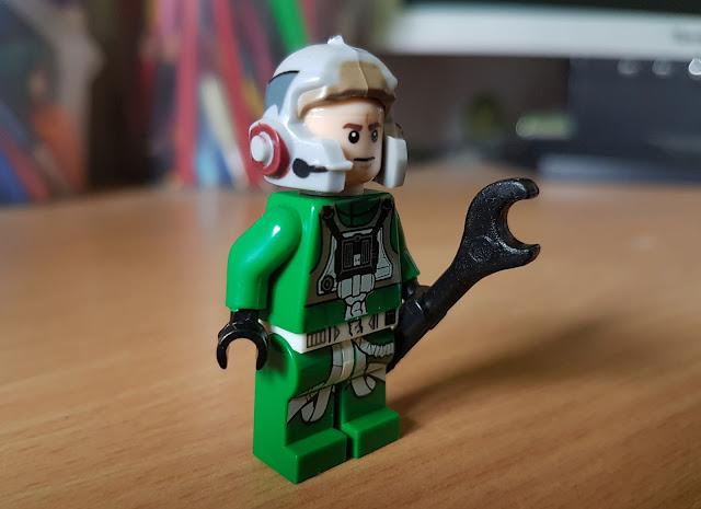 Пилот альянса в зеленом комбинезоне фигурка лего Звездные войны, Стар Варс