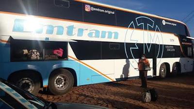 Ônibus da Emtram chega em Piatã lotado e 05 pessoas desembarcam na cidade