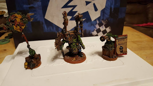 Mek Boss Buzzgob and Nitnuckle & Lunk Grot Oilers