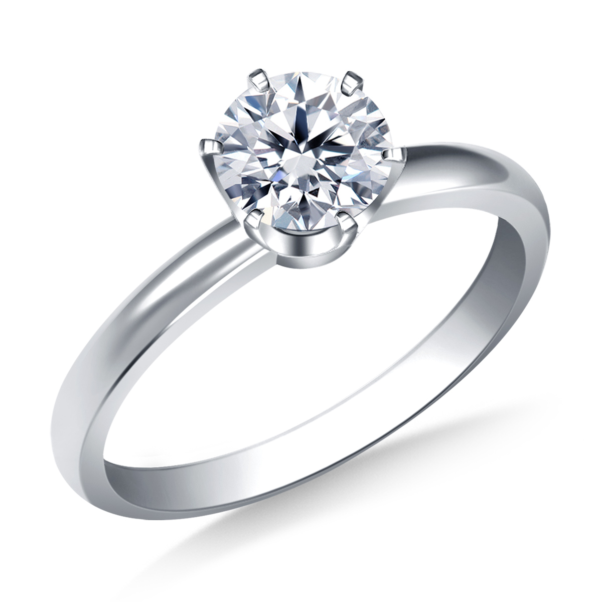 This Gorgeous Solitaire Ring Is A Wonderful Choice For A Classic Engagement  Ring. A Solitaire Ring With A Round Brilliant Diamond Has Remained The  Preferred ...