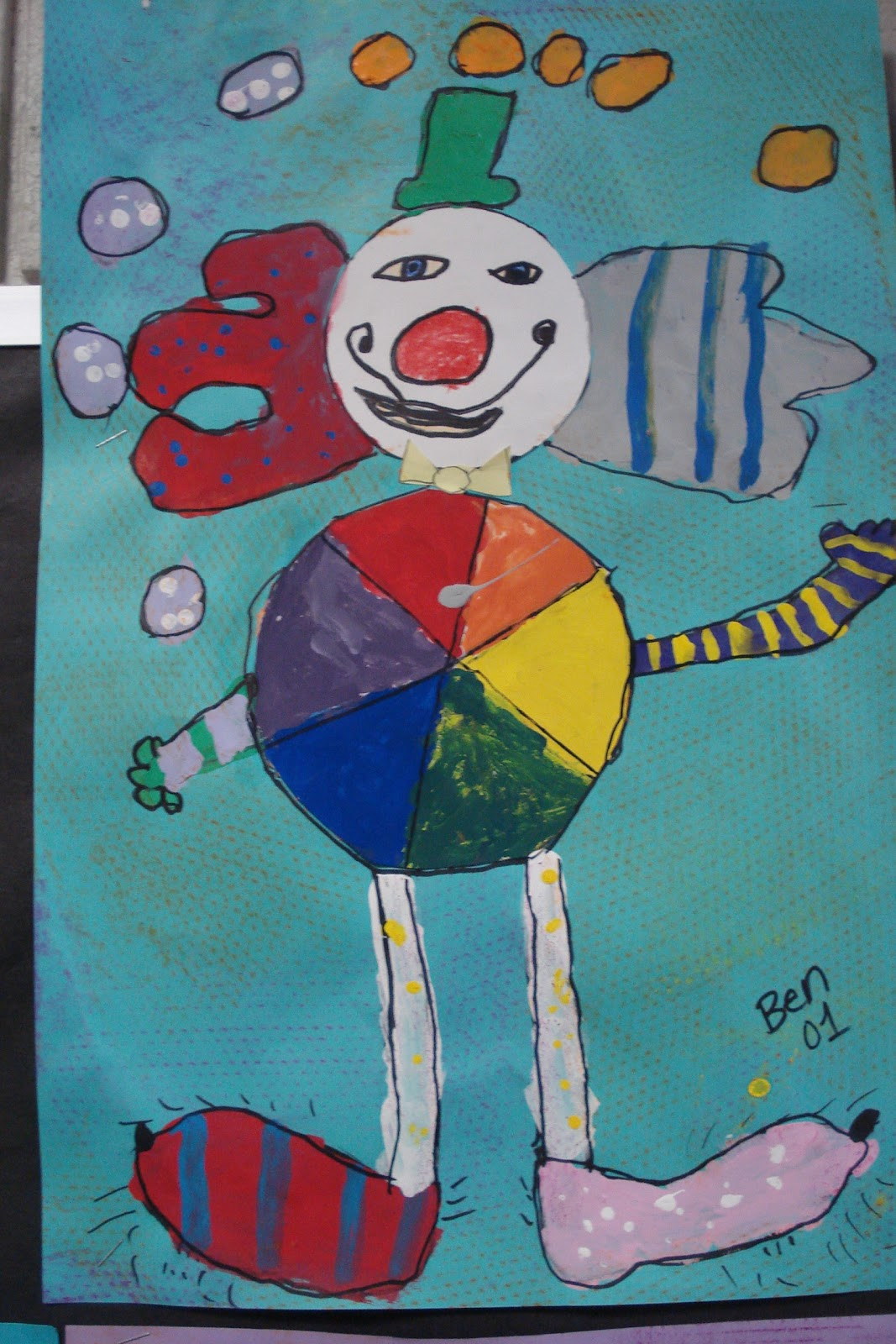 The Crearttivity Spot 1st Grade Color Wheel Clowns