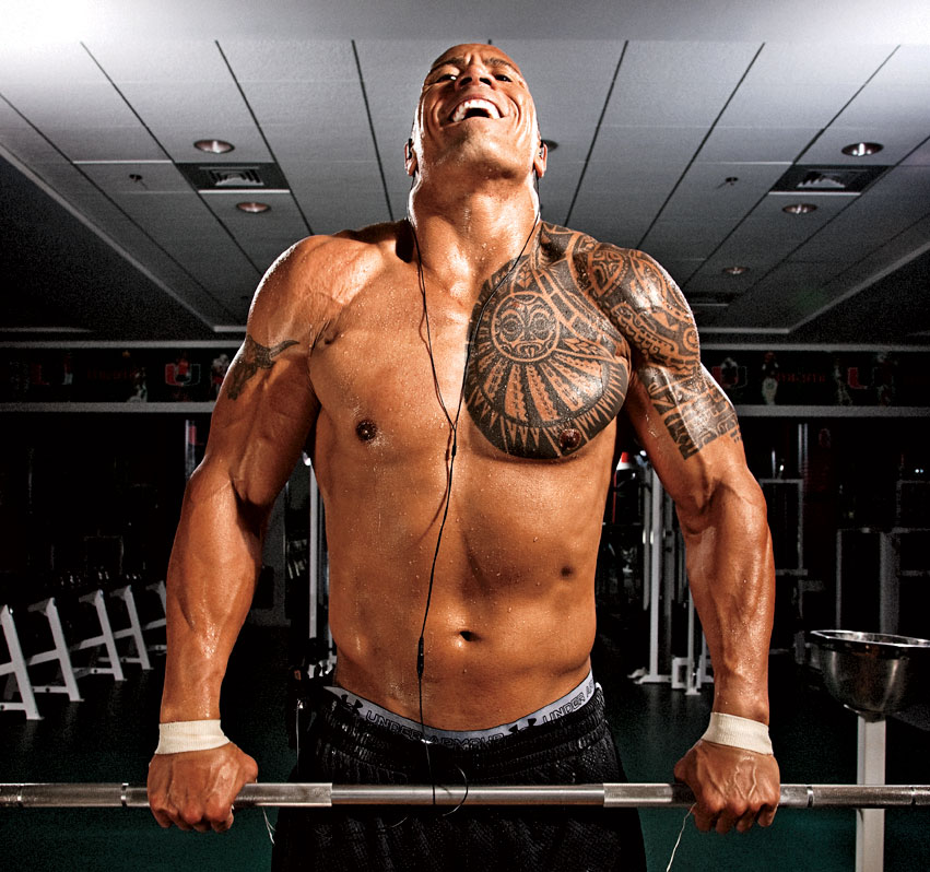 "Dwayne ""The Rock"" Johnson la antrenamente"