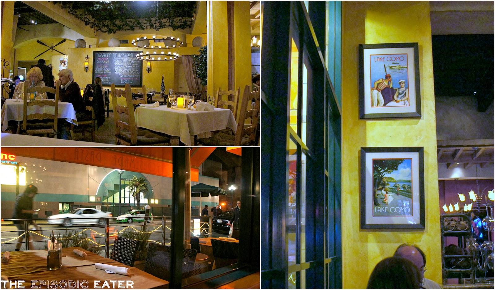 Lago Restaurant Santa Monica Menu