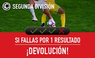 sportium Segunda División: Combinada 'con seguro' 7-9 septiembre