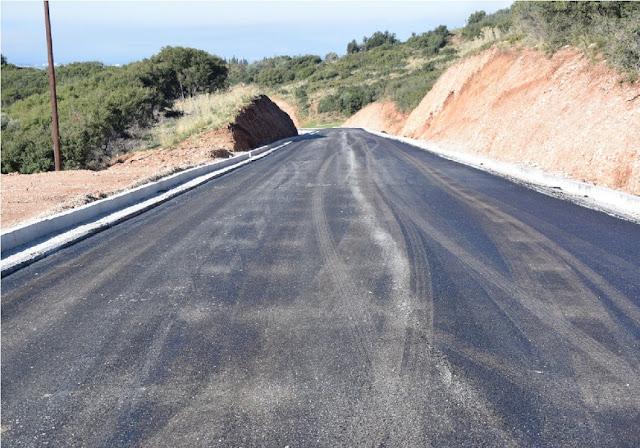 Ολοκλήρωση των εργασιών βελτίωσης του οδοστρώματος και διαγράμμισης δρόμο Δρυόπης-Επιδαύρου