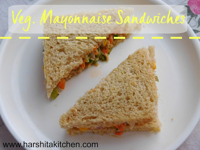 veg mayonnaise sandwiches