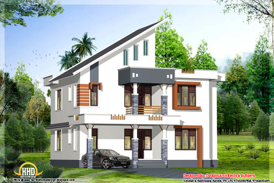 4 BHK contemporary Kerala home design - May 2012
