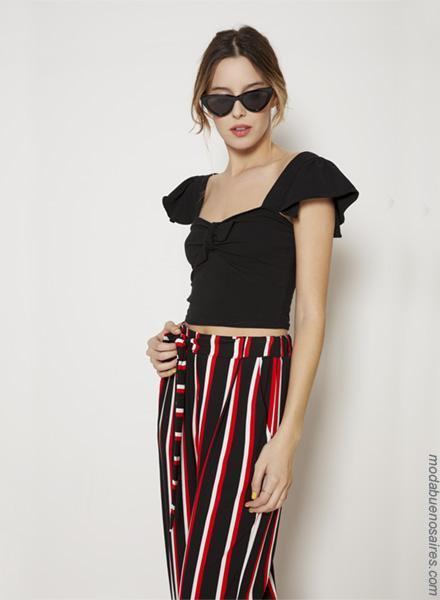 Moda primavera verano 2019 │ Pantalones palazzos moda verano 2019.