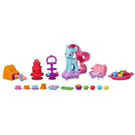 MLP Sweet Rainbow Bakery Mrs. Dazzle Cake Brushable Pony