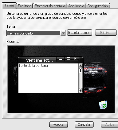 Tutorial: instalación de temas en Windows XP
